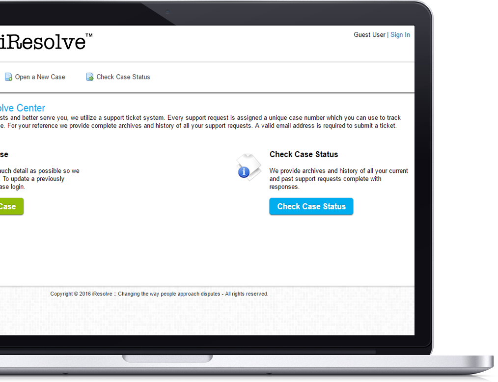 iResolve™ is an online alternative dispute resolution system